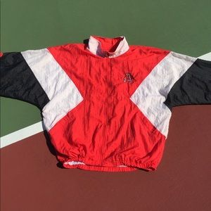90s NCAA Razorbacks Windbreaker